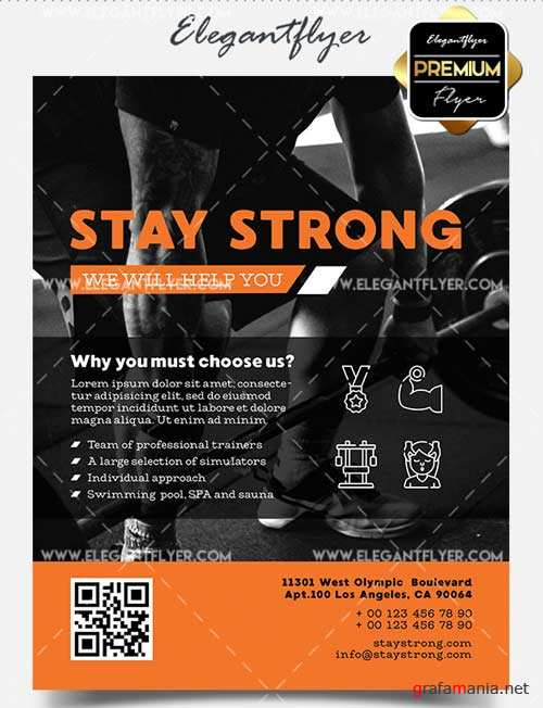 Stay Strong V1 2018 Flyer PSD Template