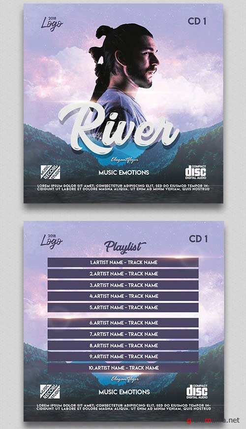 Music Emotions V1 2018 CD Cover PSD Template