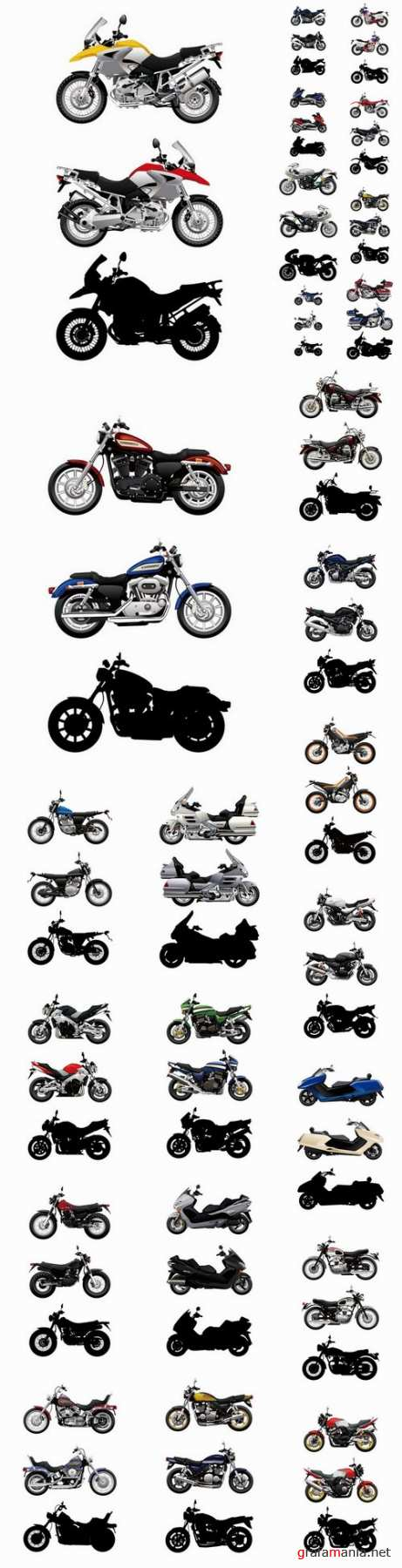 Motorcycle sport bike chopper motocross bike enduro 25 EPS1