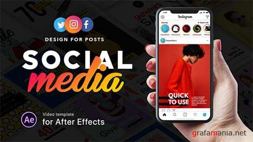 Social Media - Design for Posts - After Effects Project (Videohive)