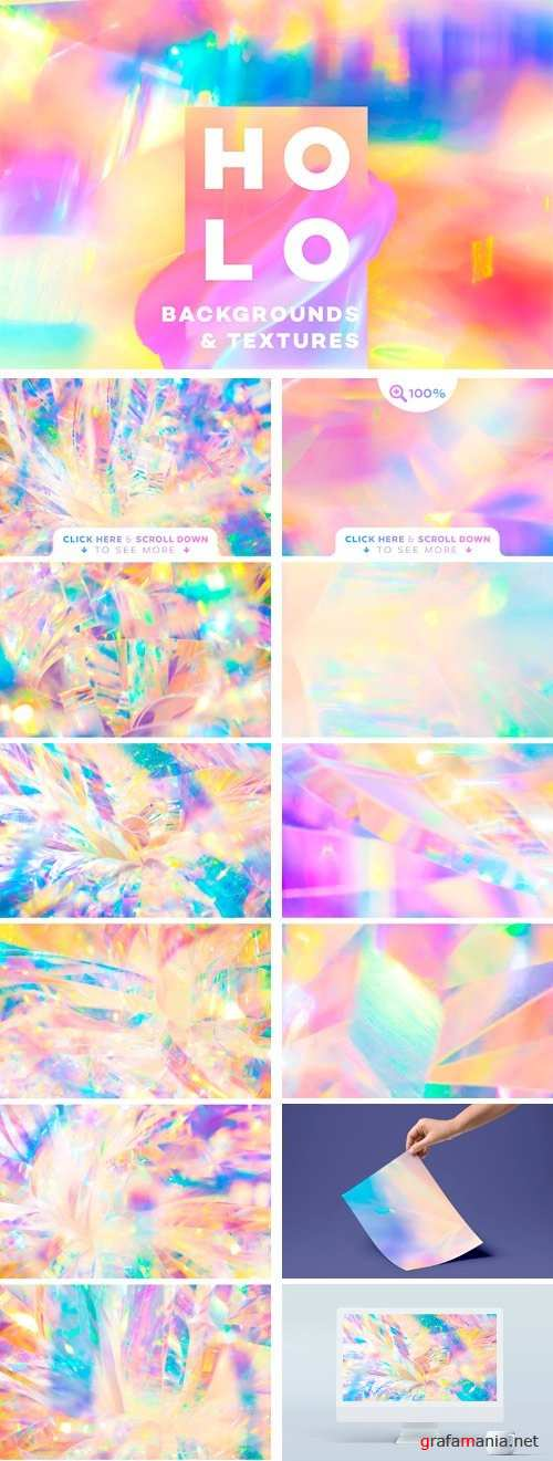 Holographic Backgrounds & Textures 2422998