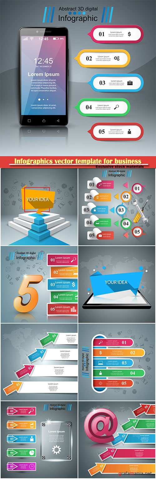 Infographics vector template for business presentations or information banner # 60
