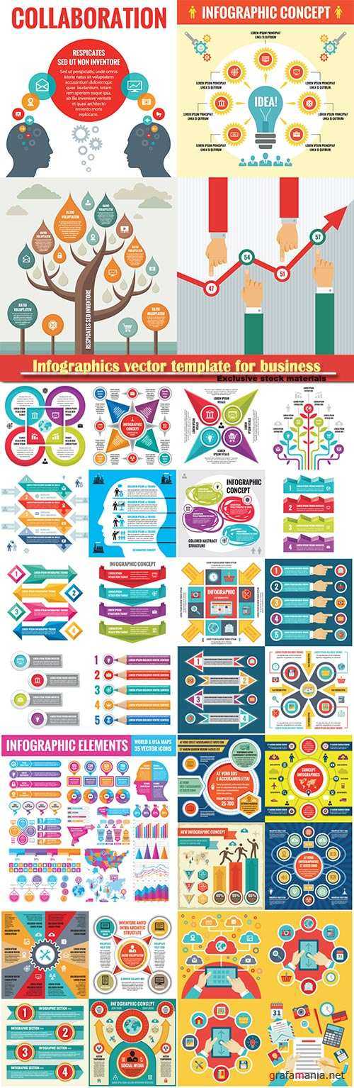 Infographics vector template for business presentations or information banner # 59