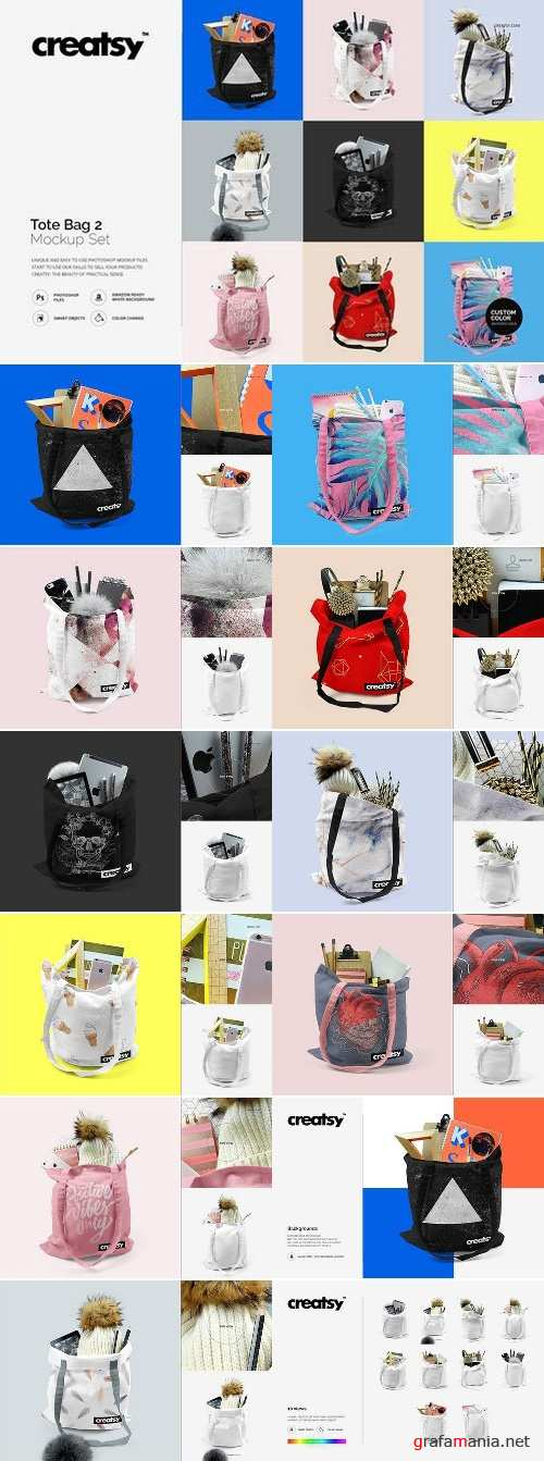 Tote Bag 2 Mockup Set 1567922