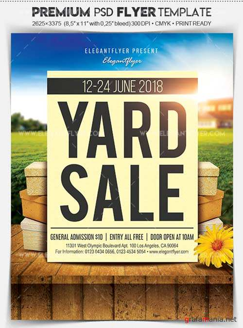 Yard Sale V1 Flyer PSD Template