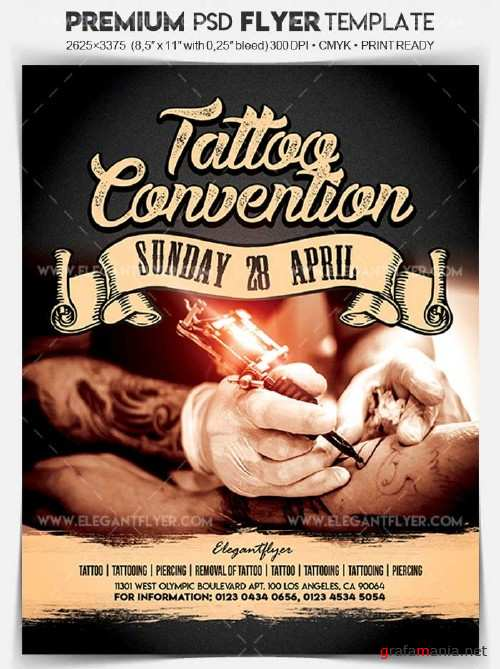 Tattoo Convention V2 2018 Flyer PSD Template