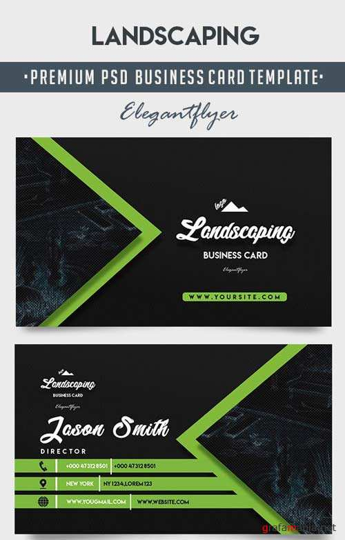 Landscaping V1 2018 Business Card Templates PSD