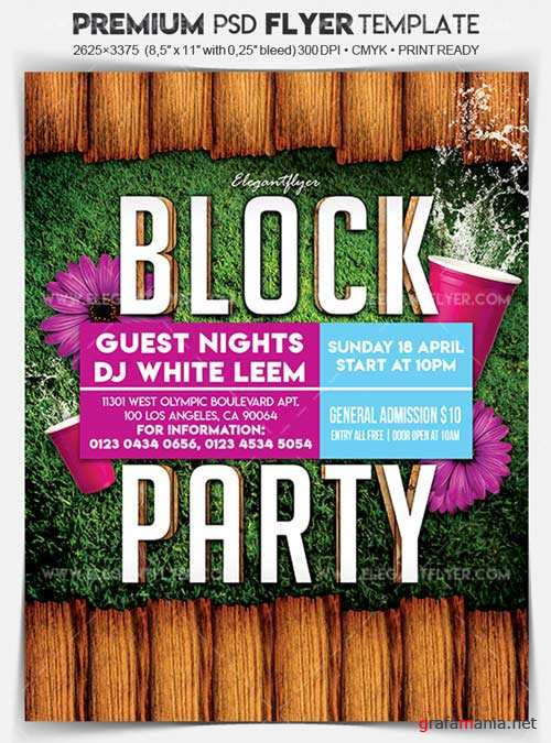 Block Party V1 2018 Flyer PSD Template