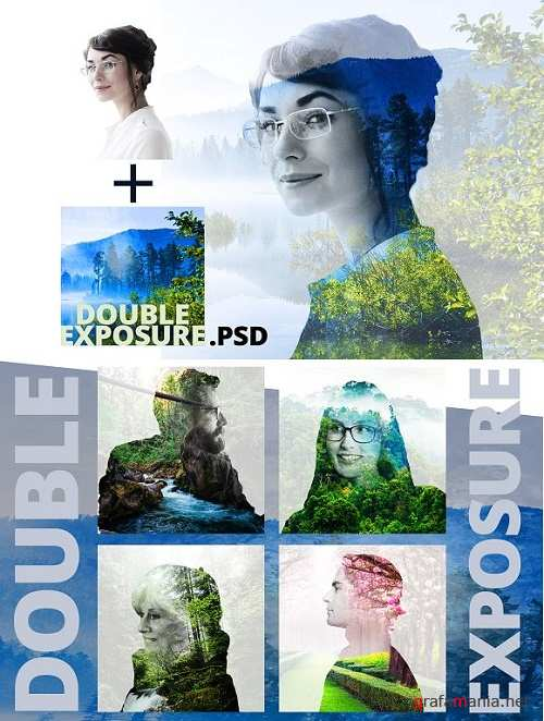 Double Exposure PSD - 1590733