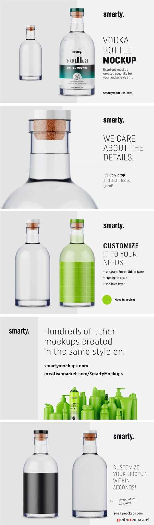 Vodka Bottle Mockup 2447400