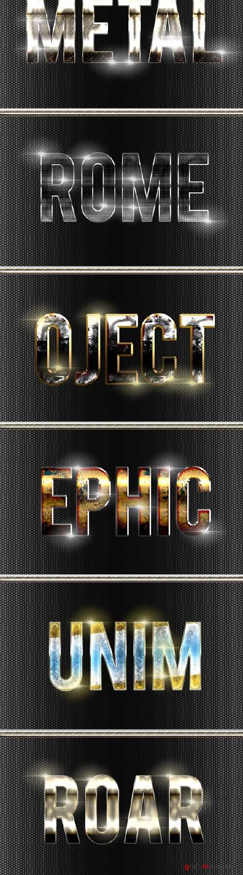 8 Metal Text Effect v4 21639241