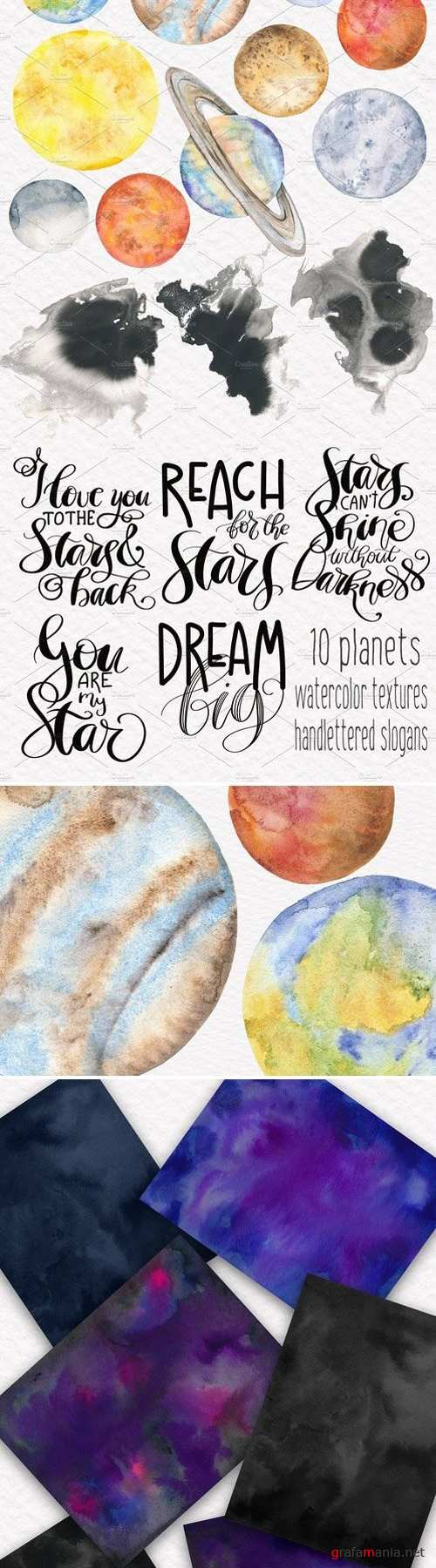 Space Toolkit Watercolor Planets 2354644