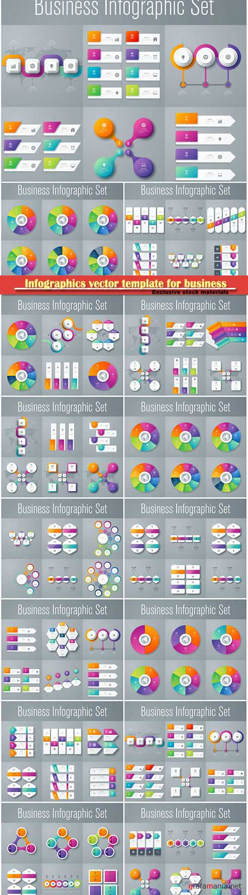 Infographics vector template for business presentations or information banner # 51