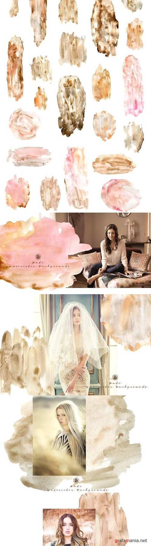 Pale Watercolor Backgrounds 2461042