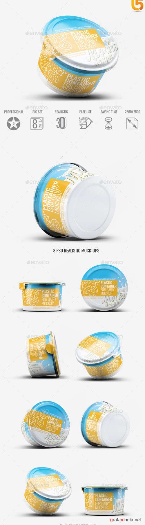 Plastic Container for Dairy Mock-Up - 21792519