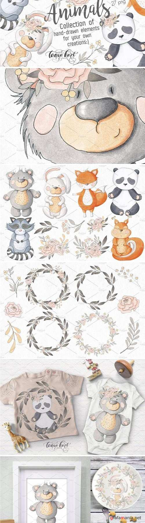 Hand Drawn Animals Collection - 2422305