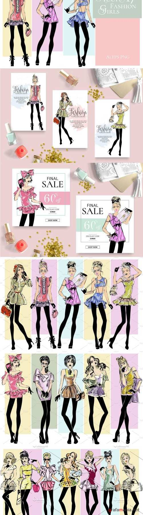 17 Teen Fashion Girls Illustrations - 2420554