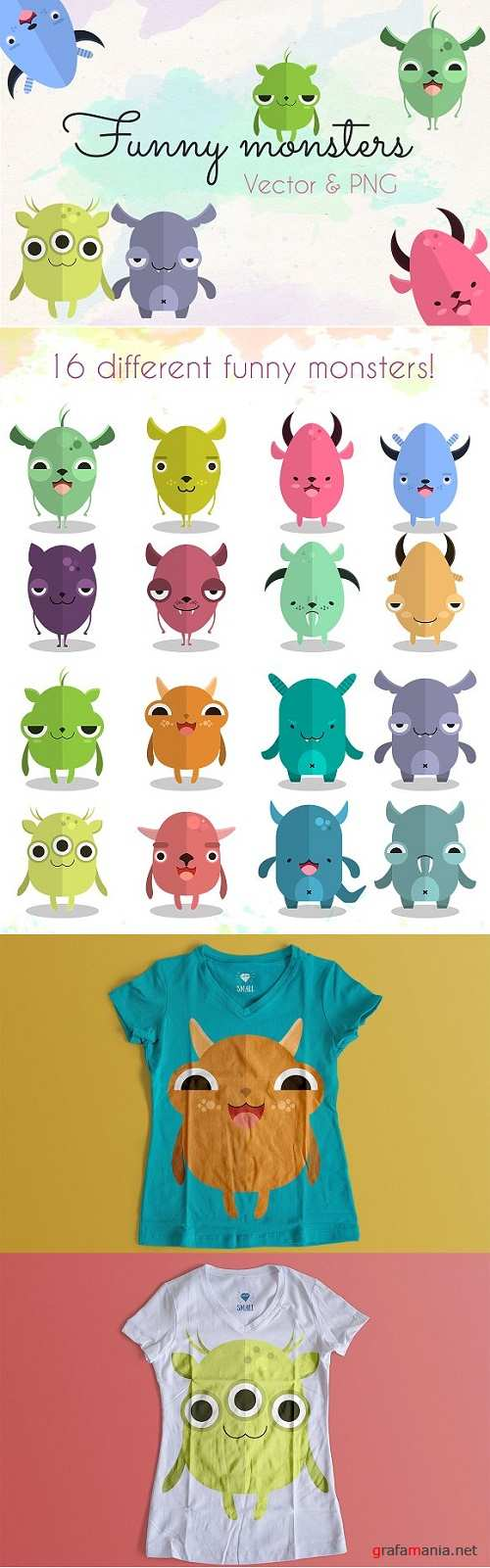 Funny monsters collection - 536219