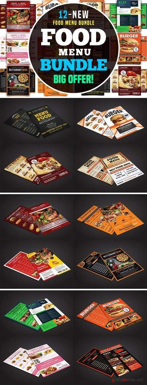 Food Menu Flyer Bundle 2465719
