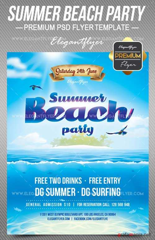 Summer Beach Party V7 2008 Flyer PSD Template