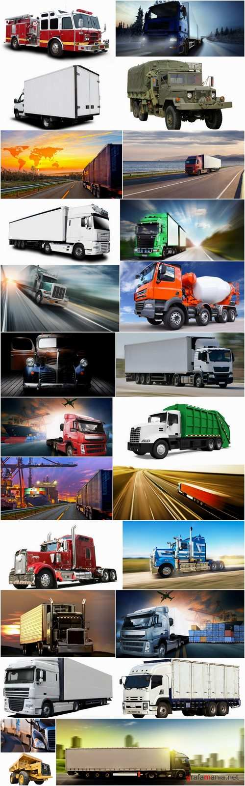 Lorry lengthy trailer truck refrigerated trucking and construction 25 HQ Jpeg