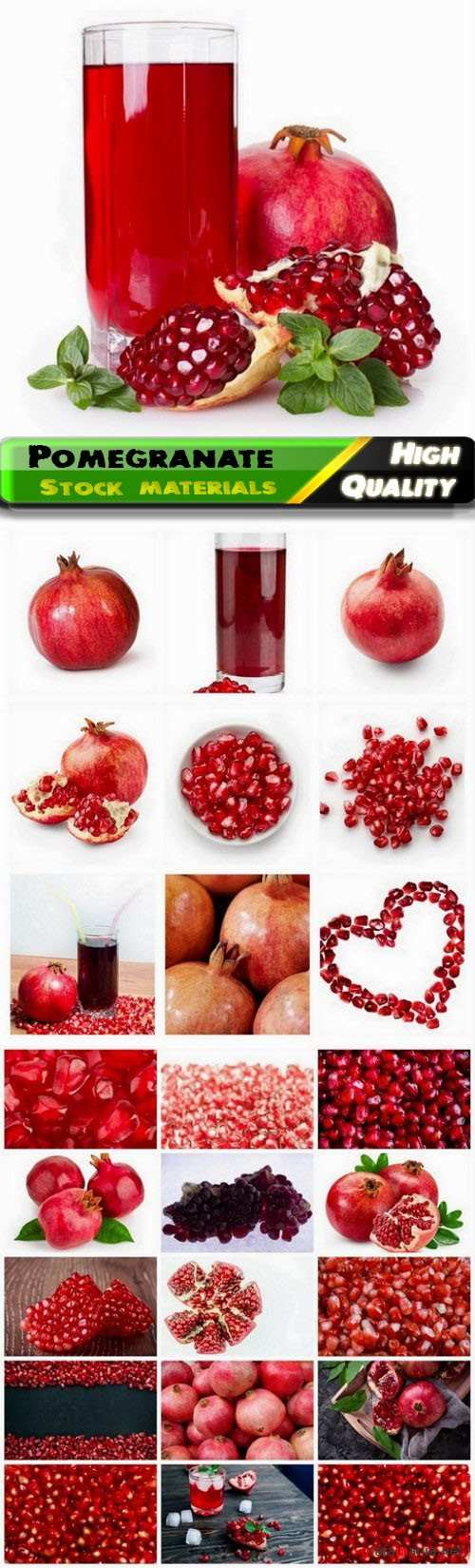 Fruit garnet and pomegranate with red berries and seeds 25 HQ Jpg