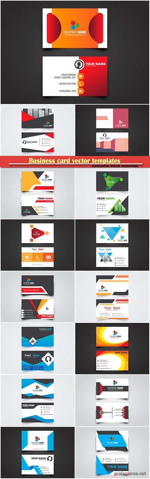 Business card vector templates # 38