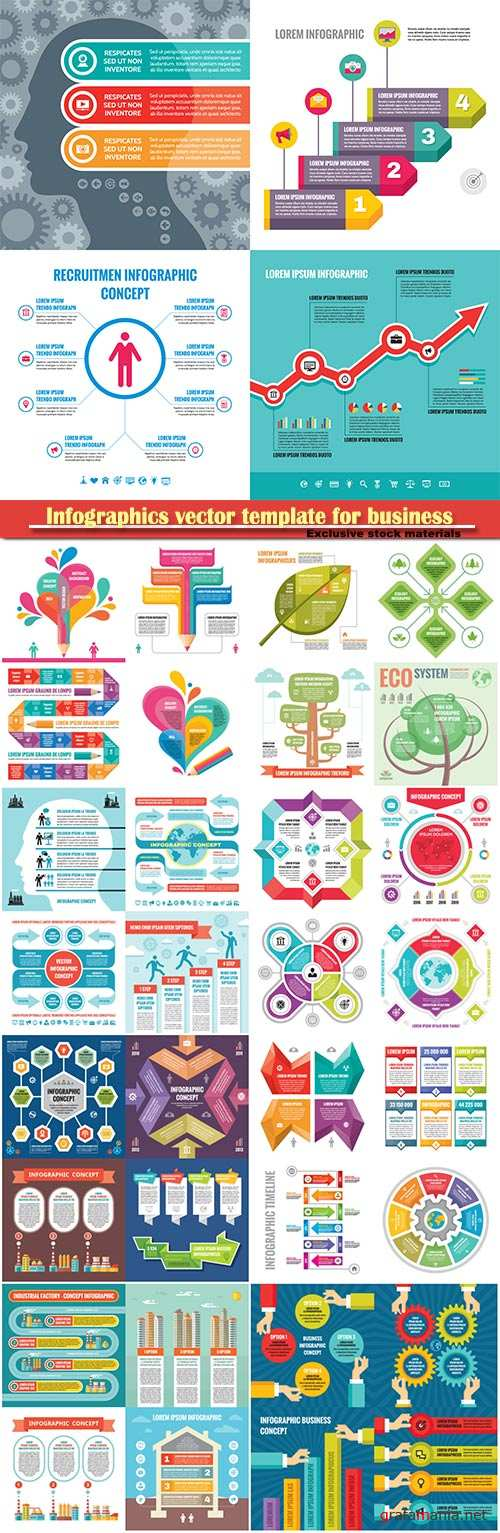 Infographics vector template for business presentations or information banner # 62