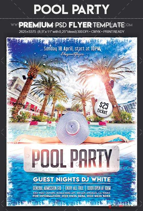 Pool Party V7 2018 Flyer PSD Template