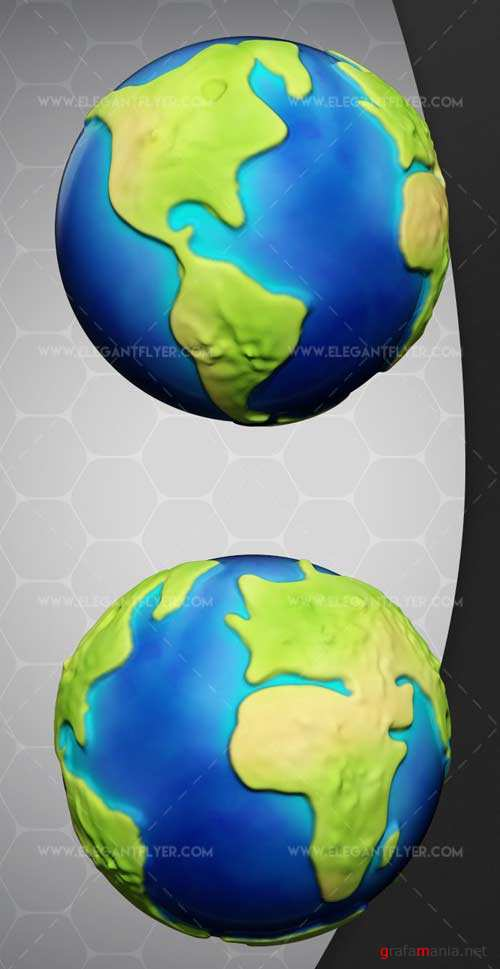 Earth V1 2018 3d Render Templates