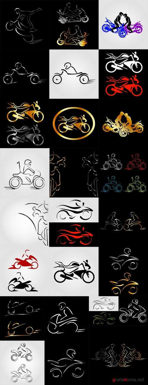 Motorcycle vector a background picture flyer poster banner emblem logo EPS 25