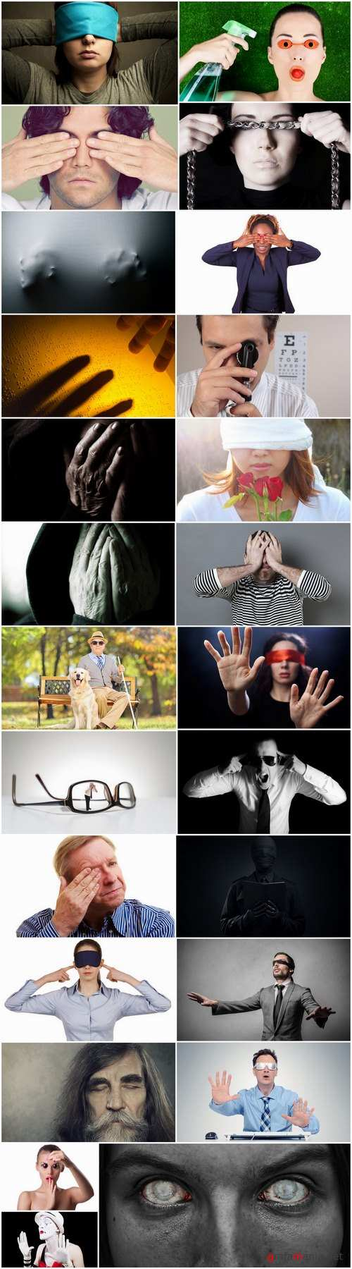 Blindness blind concept illustration man woman woman blindfold 25 HQ Jpeg