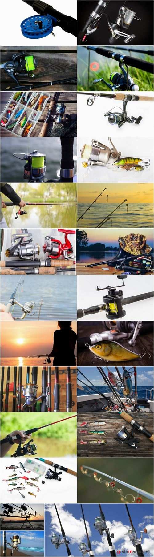 Spinning reel fishing rod fishing line 25 HQ Jpeg