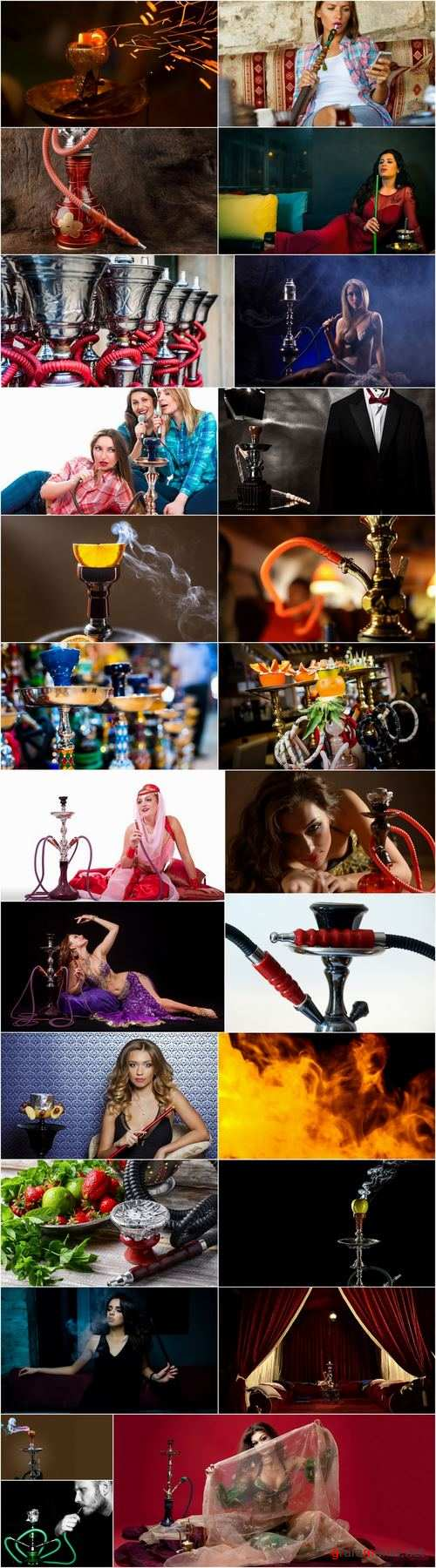Hookah girl woman smokes a pipe fruity smoke 25 HQ Jpeg