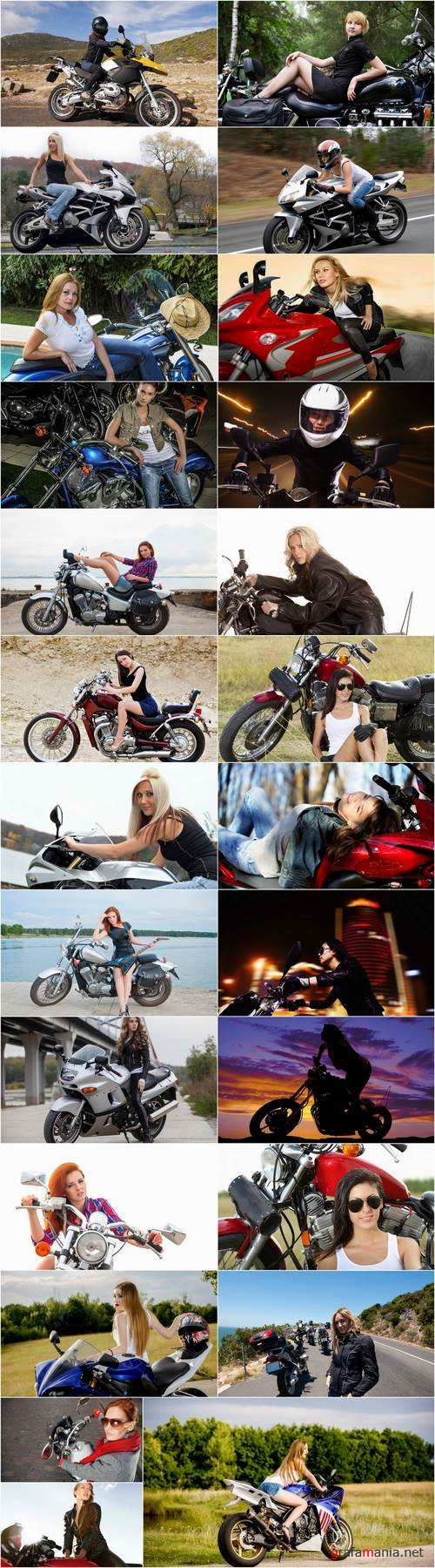 Woman woman on a motorcycle sportbike chopper enduro 25 HQ Jpeg