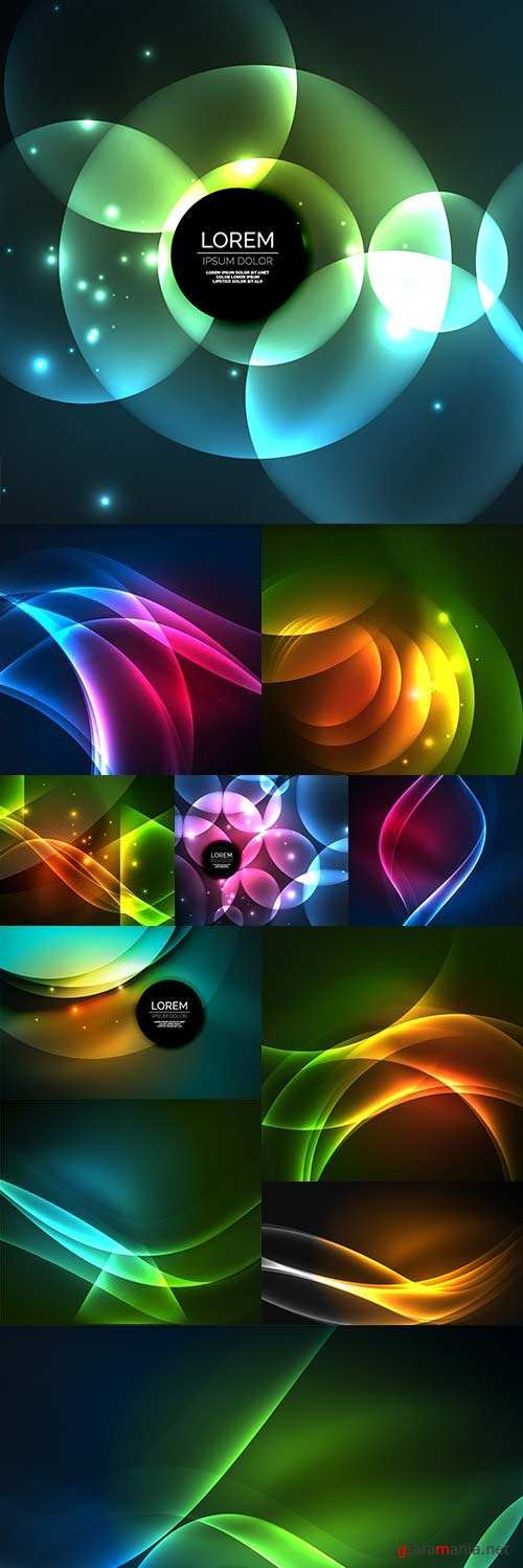 Modern spectrum creative bright background light effect
