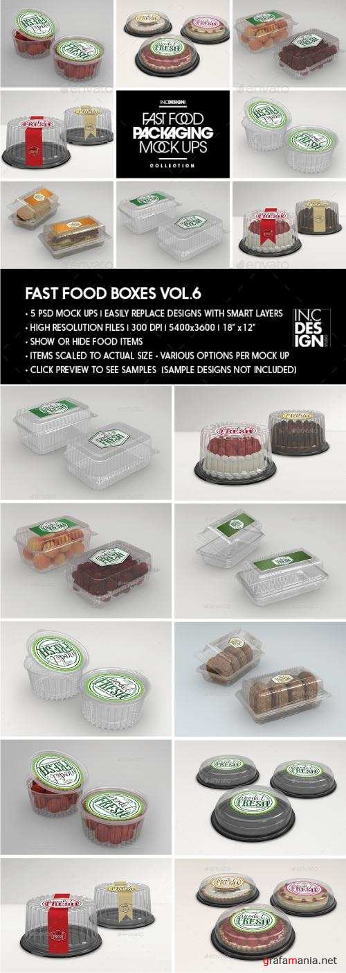 Fast Food Boxes Vol.6:Take Out Packaging Mock Ups - 19048071