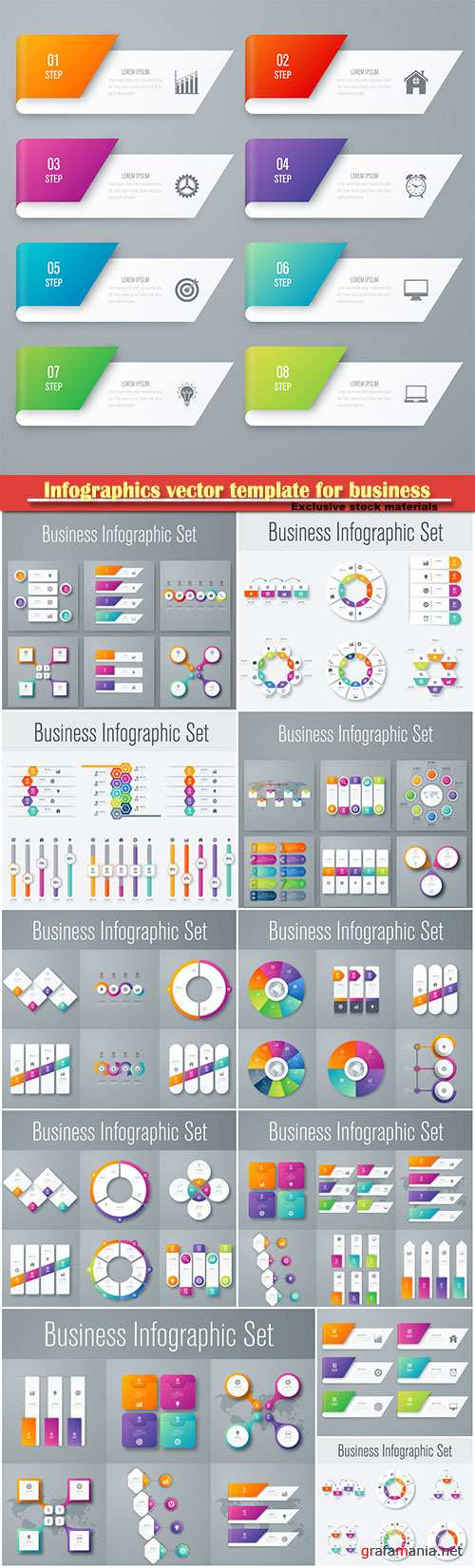 Infographics vector template for business presentations or information banner # 64