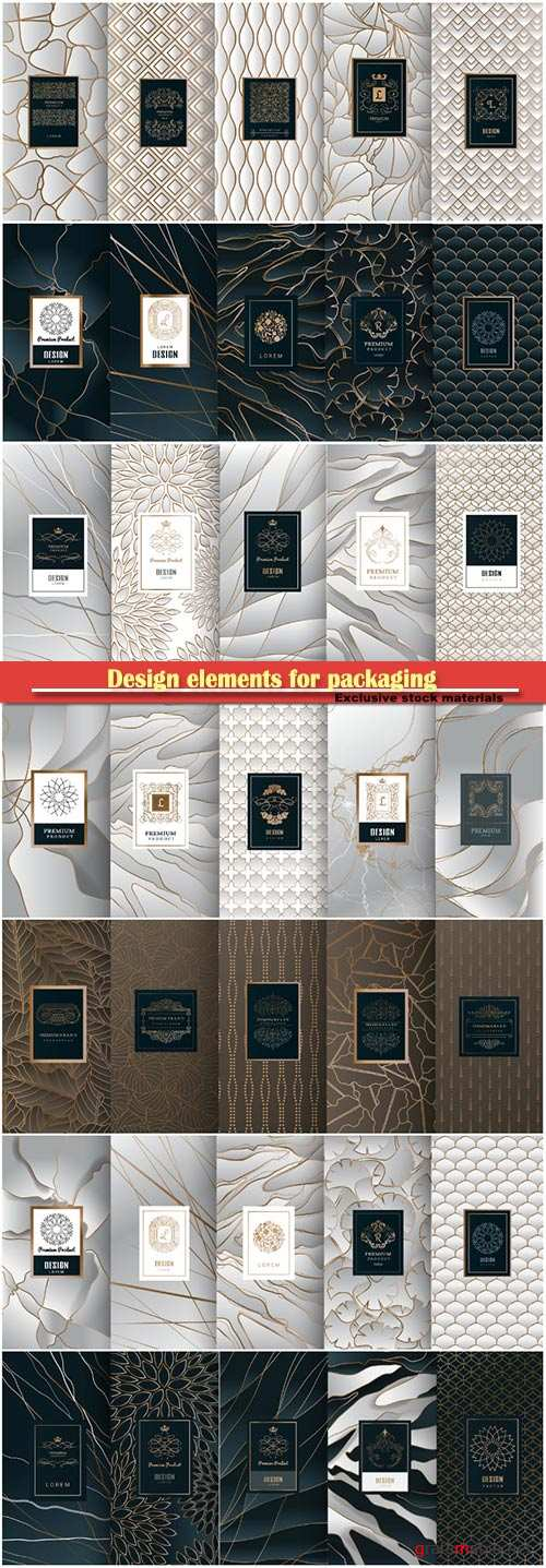 Design elements for packaging, design of luxury products for perfume # 3