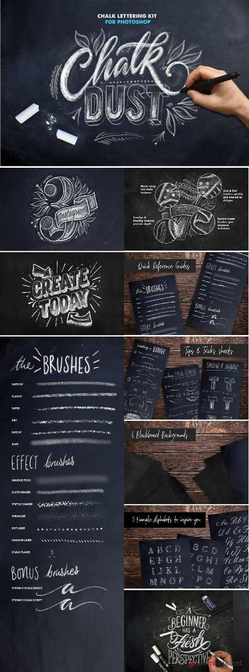 Chalk Dust - Photoshop Lettering Kit - 2425150