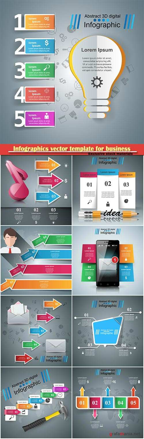 Infographics vector template for business presentations or information banner # 69