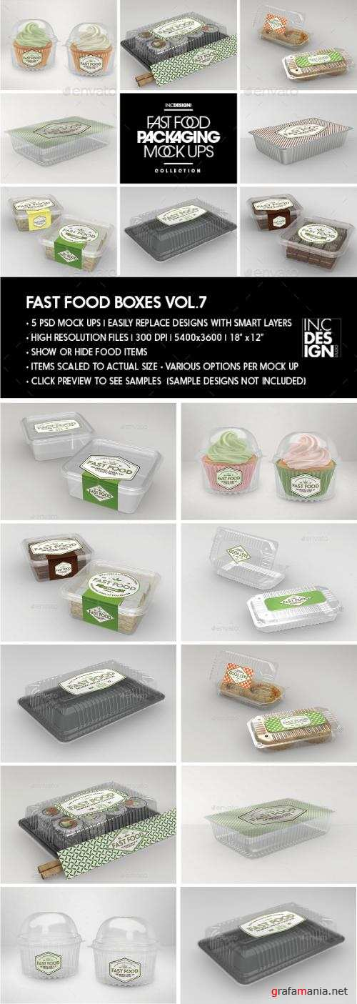Fast Food Boxes Vol.7:Take Out Packaging Mock Ups - 19048085