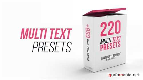 Multi Text Presets - After Effects Project (Videohive)