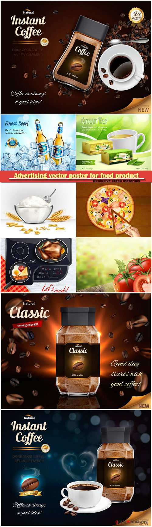 Advertising vector poster for food product