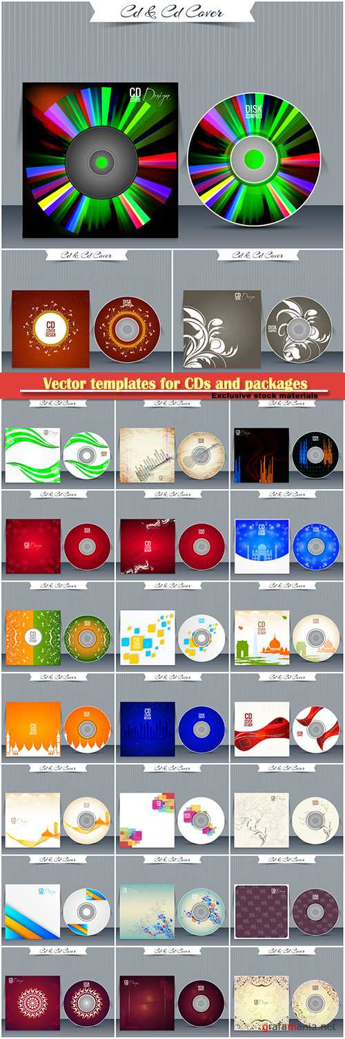 Vector templates for CDs and packages
