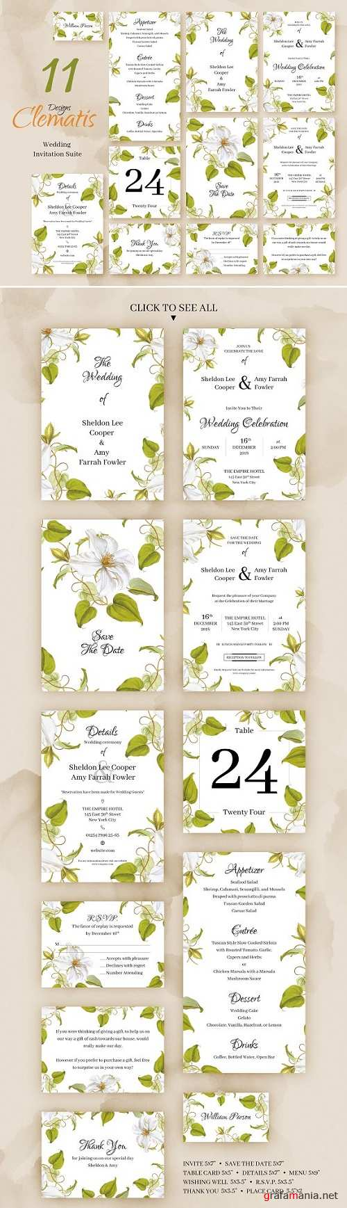 Clematis.Wedding Invitation - 2346947