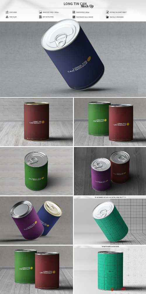 Long Tin Can Mock-Up 2497719