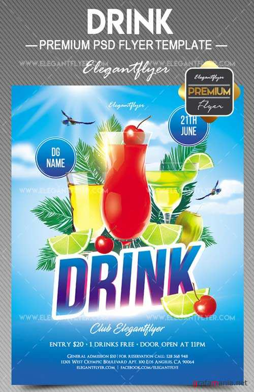 Drink V10 2018 Flyer PSD Template