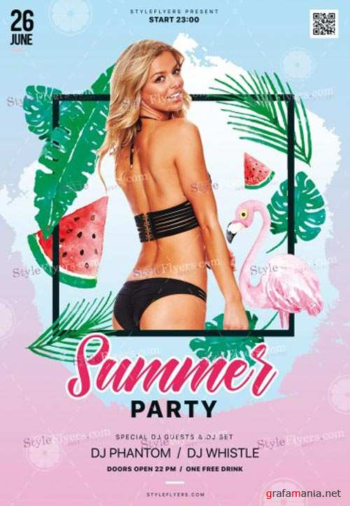 Summer Party V17 2018 PSD Flyer Templatete 2
