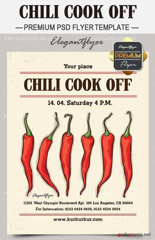 Chili Cook Off V1 2018Flyer Template